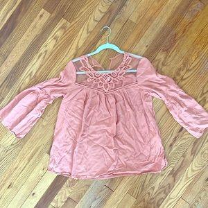 Pinkblush Maternity light pink blouse